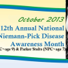 12th Annual Niemann-Pick Disease Awareness Month