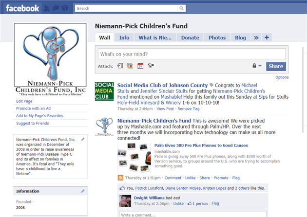 NPCF facebook page